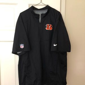 Bengals Nike on field quarter zip